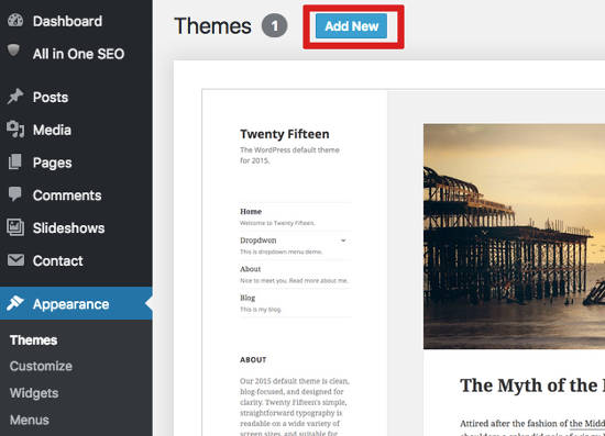 install-themes install tema WordPress