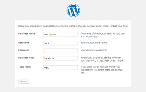 wordpress-setup-database-Install WordPress Localhost