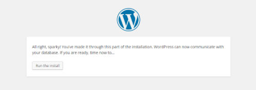 Install WordPress Localhost run-installation