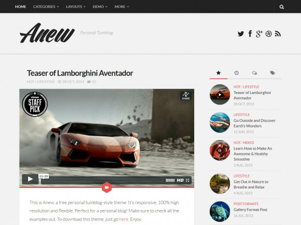 anew wordpress theme download gratis