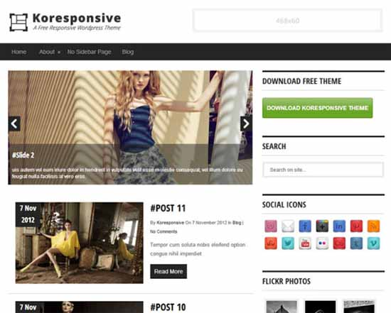 koresponsive template wordpress free terbaik magazine download