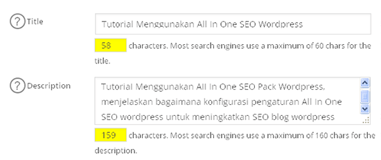 pengaturan All in One SEO post