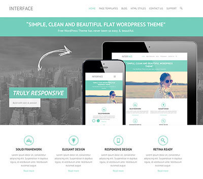 Theme wordpress responsive interface free