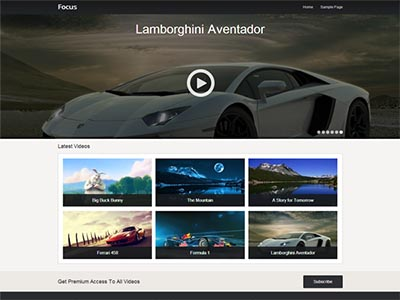 download focus free wordpress theme for video sites