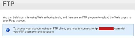 host ftp ipage hosting