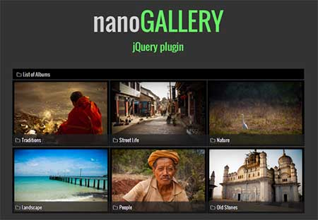 nanogallery download plugin jQuery Terbaik