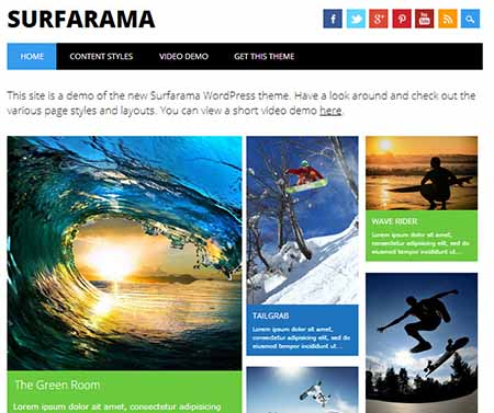surfarama theme wordpress free download