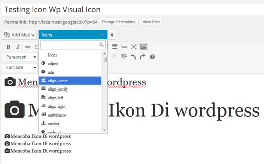 Tutorial Icon Font Di wordpress