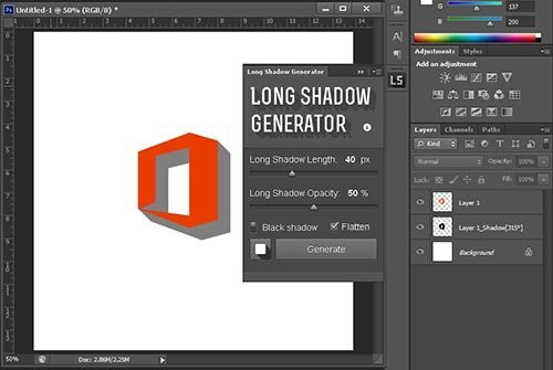 Long shadow generator tutorial photoshop