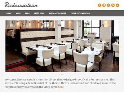 restaurateur free wordpress theme for restaurents