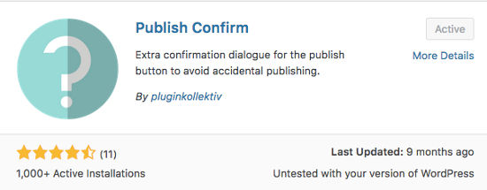 Plugin Publish Confirm