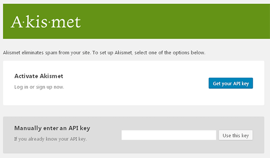 akismet api key wordpress