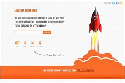 launcher-free-landing-page-theme wordpress
