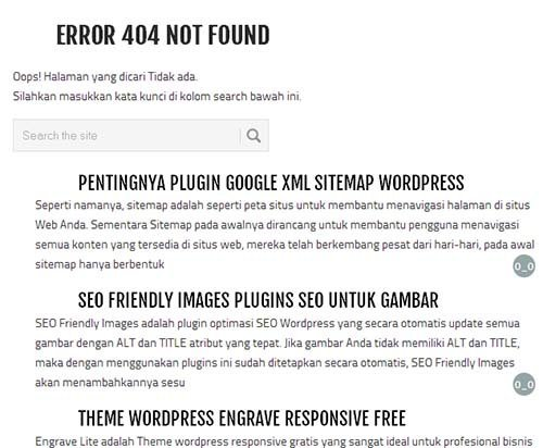 modifikasi page not found 404