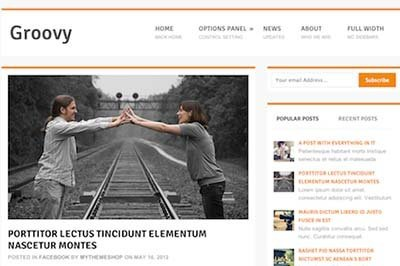 Groovy theme responsive free wordpress