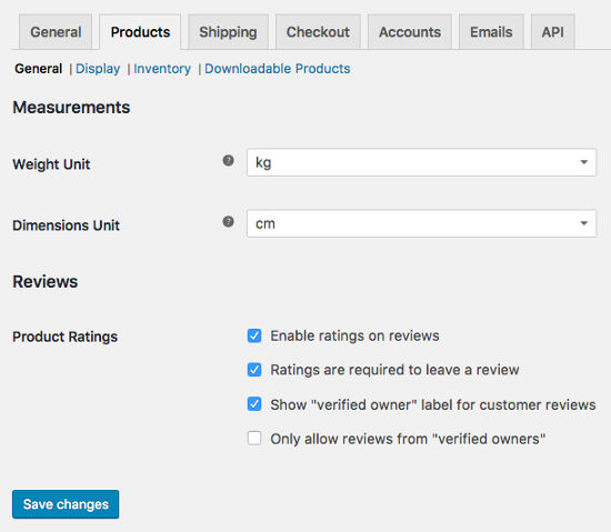 Product Settings WooCommerce