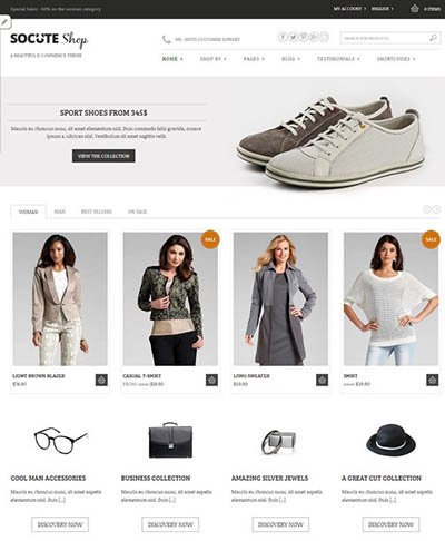 Socute-Beautiful-E-Commerce-Theme woocommerce