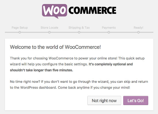 Welcome woocommerce