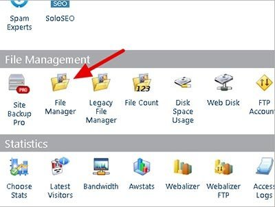 cPanel-File-Manager tutorial