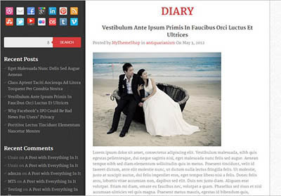 diary theme wordpress responsive