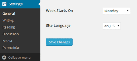 language change selection-wordpress