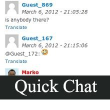 quick chat wordpress