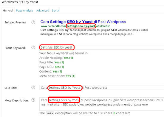 seo yoast post settings