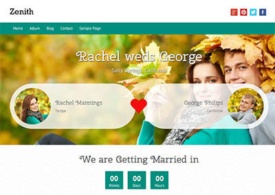 zenith wedding theme wordpress free