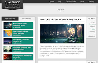 DualShock theme wordpress magazine
