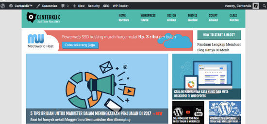 Menghilalngkan toolbar WordPress