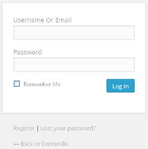 login wordpress with email