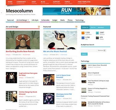 mesocolumn-wp-theme free magazine