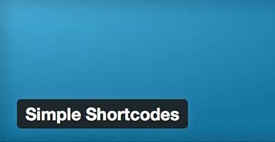 simple-shortcodes wordpress