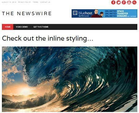 the newswire theme responsive free download