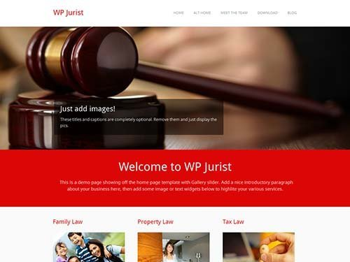 wp jurist theme business free wordpress