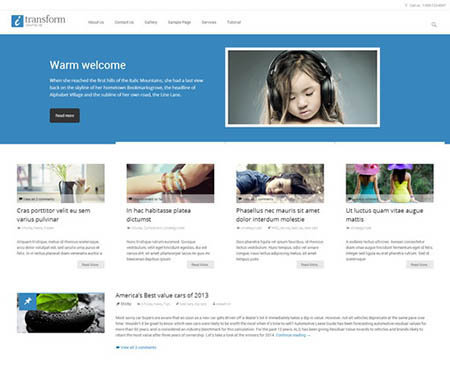 I-transform theme best business portfolio free
