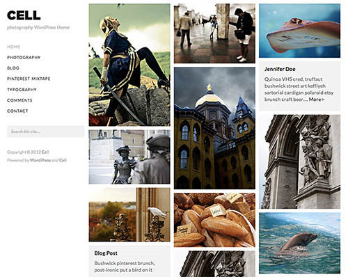 cell theme wordpress free fotografi