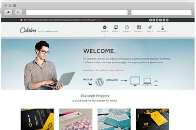 download theme portfolio best free wordpress