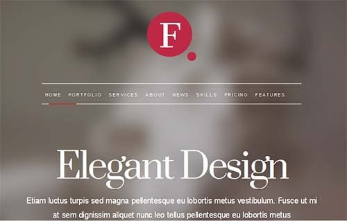 elegant design theme wordpress