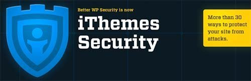 iThemes Security Better WP Security