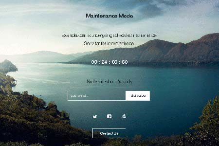 maintenance mode WordPress