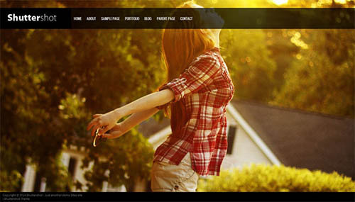 shuttershot free wordpress theme photografi