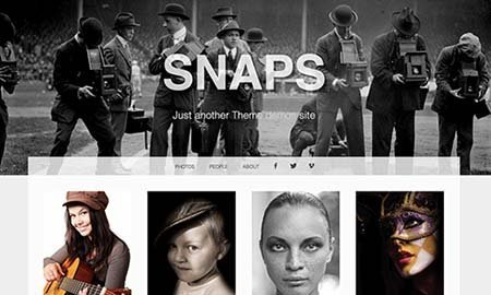 snaps wordpress theme photographer free