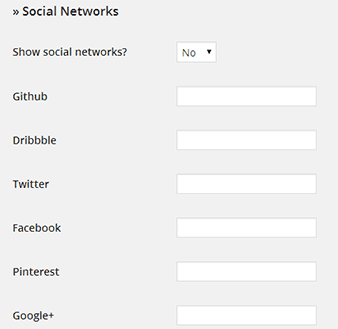 socialnetworks settings