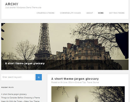theme archy blog wordpress gratis