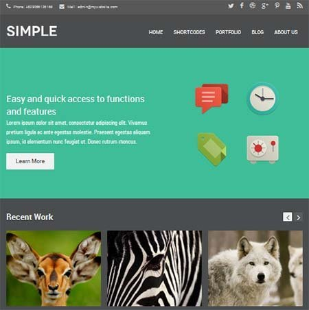 theme simple dark wordpress free