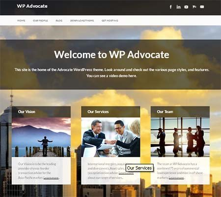 wordpress theme advocate free download