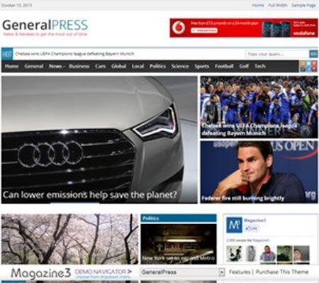GeneralPress theme wordpress responsive free