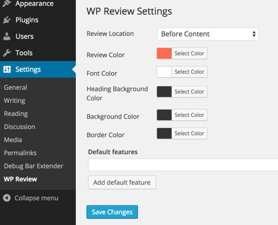 WP Review WordPress plugin to create review websites