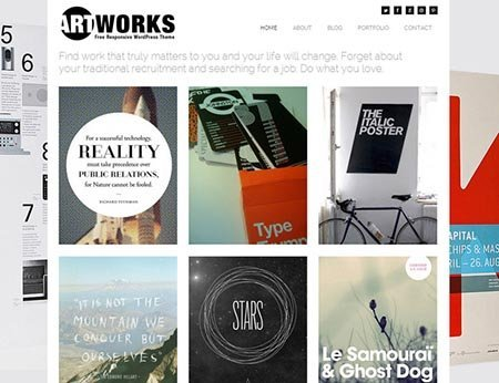 artworks-free-wordpress-theme portfolio